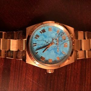 Michael Kors gold & turquoise watch authentic